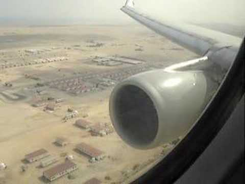 Qatar Airways landing in Doha Amazing View!
