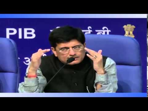 Shri Piyush Goyal Addressing a Curtain Raiser Press Conference on the RE-INVEST 2015