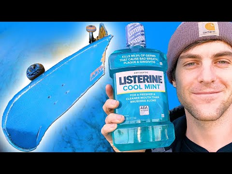 WE SOAKED A SKATEBOARD IN LISTERINE FOR 24 HOURS!
