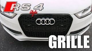 How to Install an RS4 Style Grille on a B8.5 Audi S4