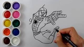 Örümcek adam çizgi film - Çizgi film karakterleri ile renkleri öğreniyorum Renkler Şarkısı #3