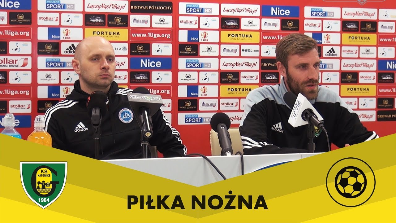 Konferencja po meczu Wigry Suwałki - GKS Katowice (7 04 2018)