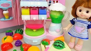 Baby doll fruit juice maker play baby Doli house