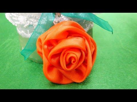 Как сделать розу из атласных лент за 30 минут - Savvinka.ru