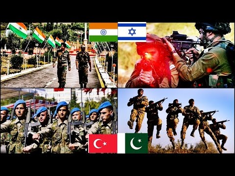 Turkey & Pakistan VS India & Israel Military Power Comparison   2016 HD