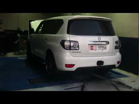Nissan Patrol V8 GTX42 Turbo Dyno @ Project X Motorsports UAE 450hp @ 4 wheels 6psi boost!