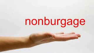 How to Pronounce nonburgage - American English