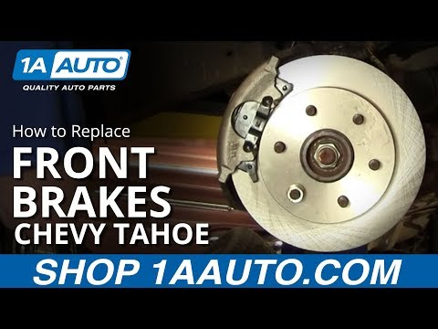 How To Install Replace Front Disc Brakes Chevy GMC Pickup Tahoe Suburban 92-99 1