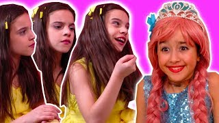 PRINCESS CLONES 👭 Lilliana Makes Robot Versions of Herself! - Princesses In Real Life | Kiddyzuzaa