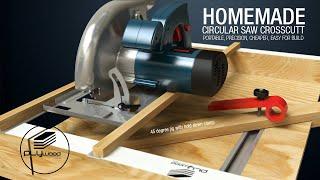 Homemade Circular Saw Crosscut - DIY Circular Saw Miter slide Cut