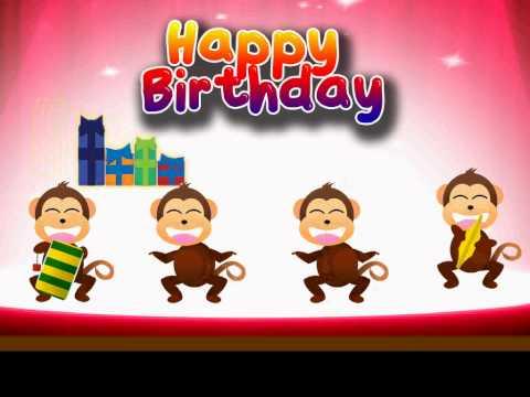 Happy birthday to you обезьяны открытка 38