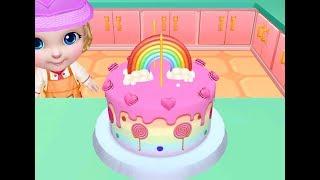 Permainan Anak Perempuan: Main Masak Masakan Anak Membuat Kue Ulang Tahun Pelangi Cinta Lucu
