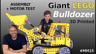 Giant LEGO Bulldozer Assembly [kit 856] - Mantis Hacks E15