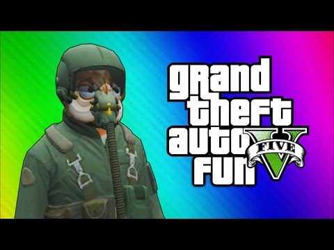 GTA 5 Flight School DLC: Training, MilJet, Bestra Jet (GTA 5 Online Funny Moments)