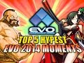 EVOLUTION 2014 - TOP 5 HYPE MOMENTS (Fighting Game World Championship)