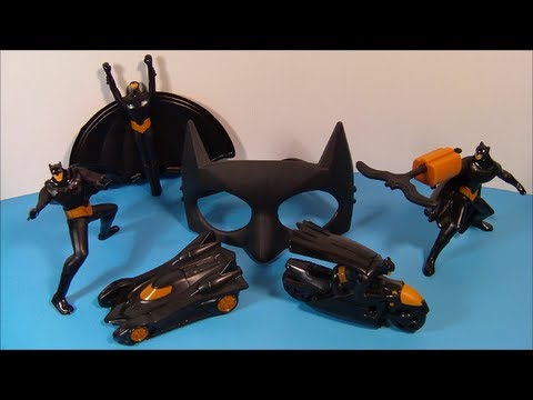 2013 BEWARE THE BATMAN SET OF 6 McDONALD'S HAPPY MEAL CARTOON TOY'S VIDEO REVIEW
