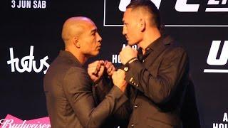 Jose Aldo vs. Max Holloway UFC 212 Media Day Staredown - MMA Fighting