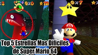 Top 5 Estrellas Mas Dificiles de Super Mario 64