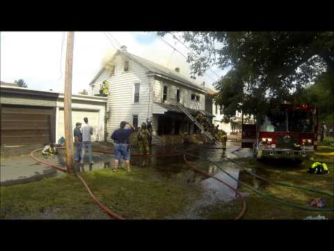 Raw video and radio traffic: 3-alarm Pa. house fire