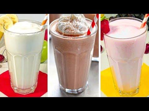 Классические Молочные Коктейли – Ванильный, Клубничный, Шоколадный.