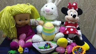Easter egg hunt Surprise toys for kids with Minnie and her friend