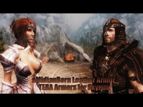 TES V - Skyrim: aMidianBorn Leather Armor. TERA Armors