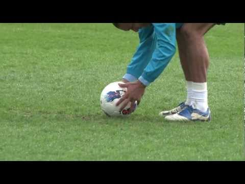 TOP CORNER! Nigel De Jong free kick and celebration dance - INSIDE TRAINING - HD