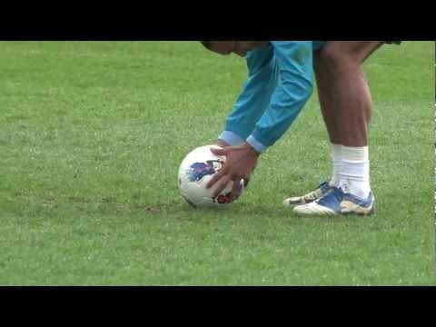 TOP CORNER! Nigel De Jong free kick and celebration dance - INSIDE TRAINING - HD