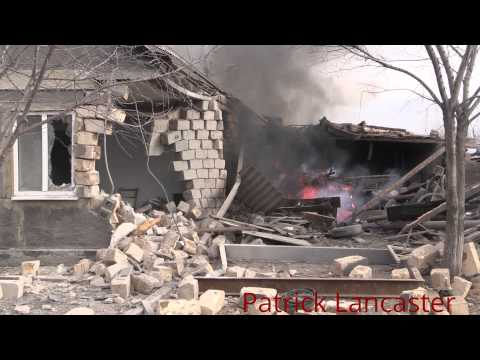 Ukraine shelling hits home in village, Kalinovo, controlled by Luhansk Peoples republic forces