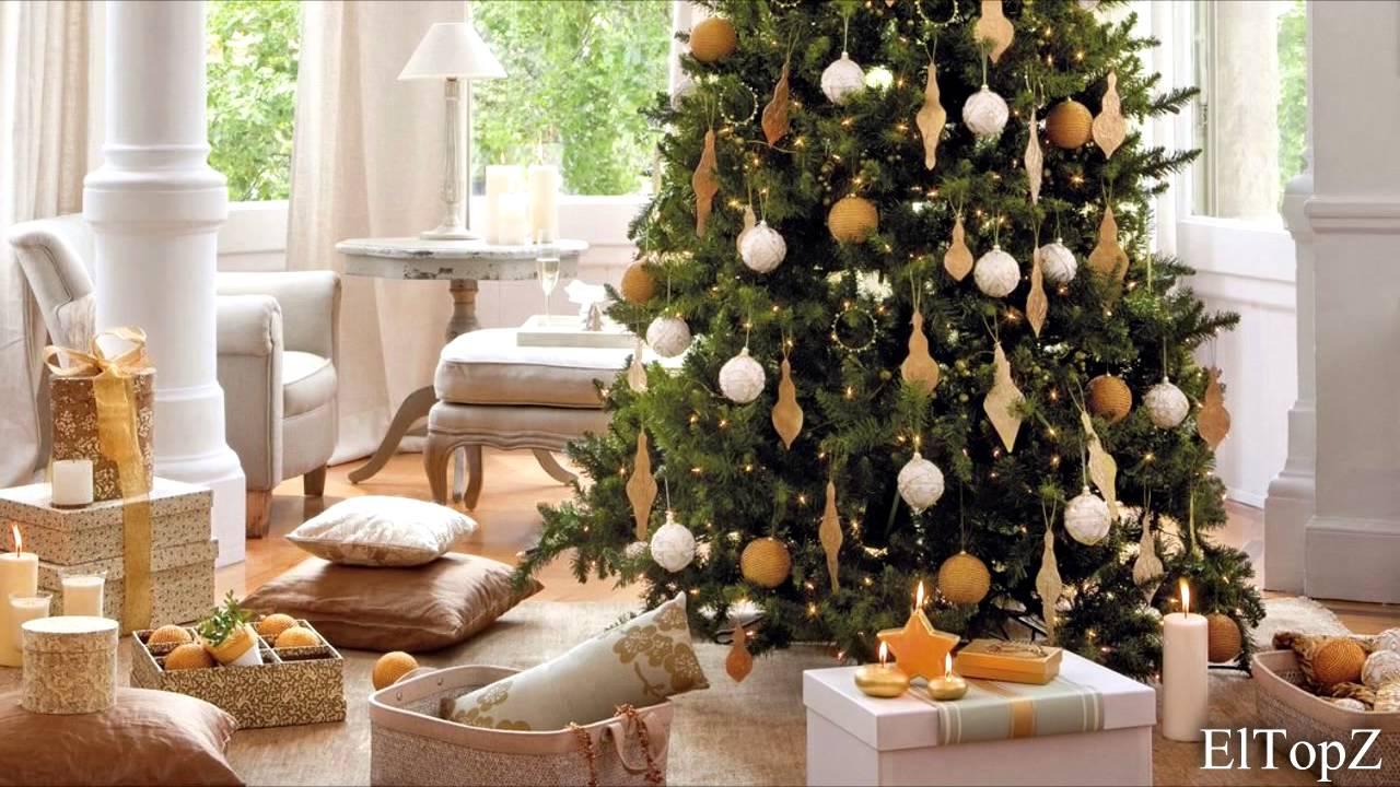 Decorando rbol de navidad dorado ideas para decorar for Decoraciones para arbol de navidad 2016
