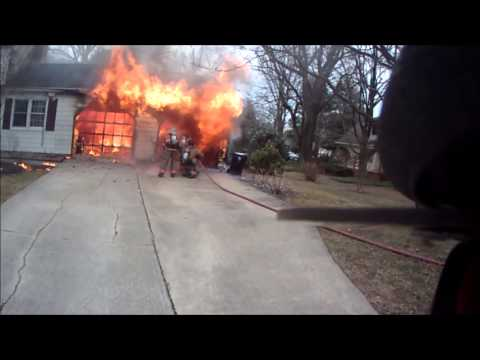 Working Garage Fire ~ Camden, DE
