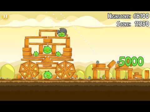 Official Angry Birds walkthrough for theme 5 levels 1-5