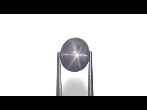6.42-Carat Greyish Violet Ceylon Star Sapphire with Sharp Star