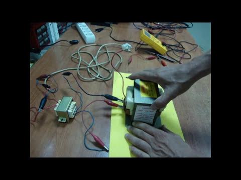 Reparación microondas, parte 2. Transformador de alta tensión