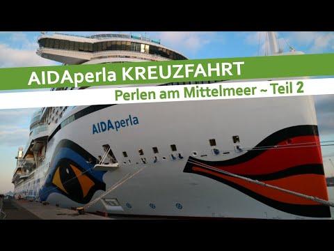 AIDAperla Mittelmeer Kreuzfahrt 2018   Perlen am Mittelmeer   Seetag Rom Neapel Barcelona   Teil 2