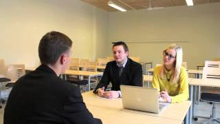 Job interview in England