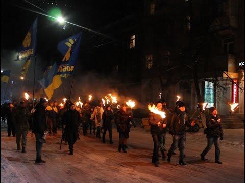 Смолоскипний марш на честь Бандери у Слов'янську