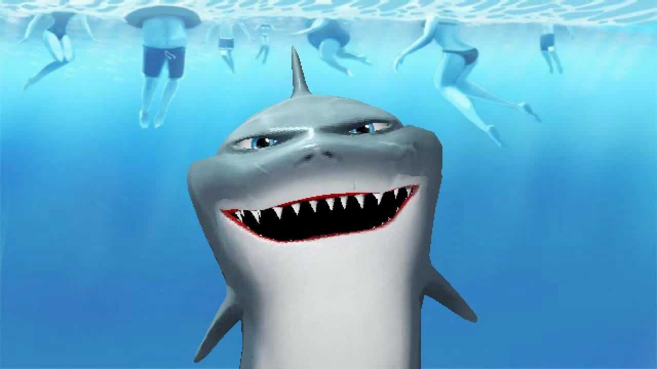 hungry shark cartoon