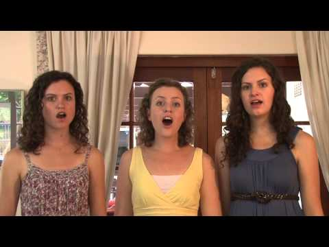 The Little Sandman - Brahms (a cappella trio) - Christy-Lyn and sisters