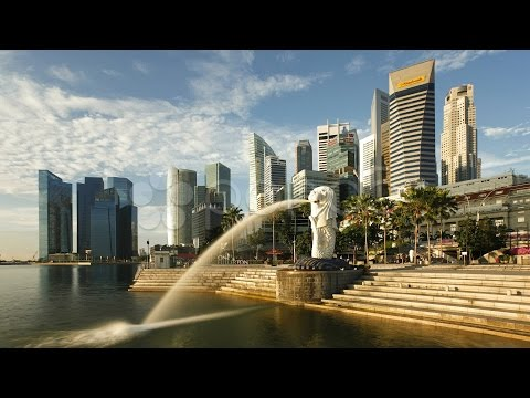 The Merlion Statue, Singapore, Asia, Tl. Stock Footage