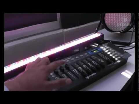 Video Tutorial de cómo configurar un DMX con lámparas de LEDs. Paso
