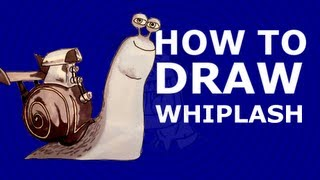 How to draw Whiplash - ( Turbo 2013 DreamWorks animation movie)