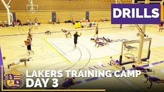 Lakers Training Camp, Day 3: Drills (Raw Footage)