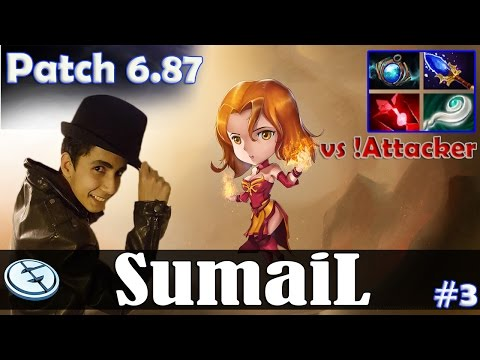 SumaiL - Lina MID | vs !Attacker (Necrophos) | Dota 2 Pro MMR Gameplay #3