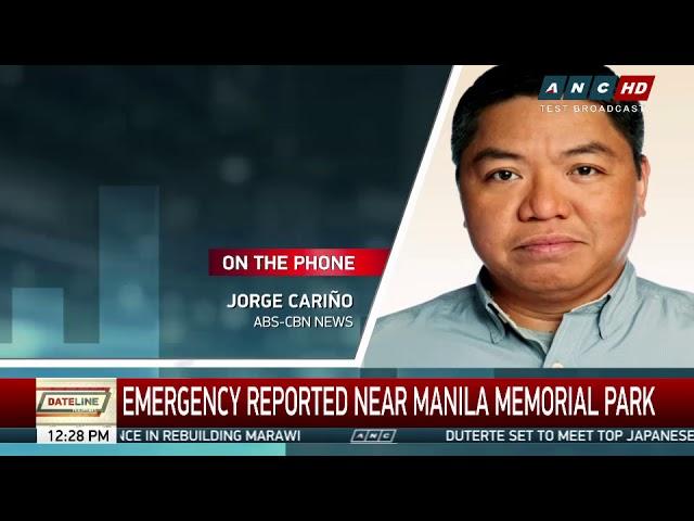 Man falls unconscious while driving inside Manila Memorial Park