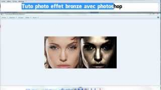tuto photo effet bronze avec photoshop