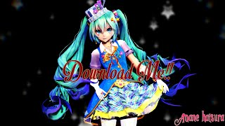 MMD TDA 60fps:Download Magical Miku Curly Hair!!