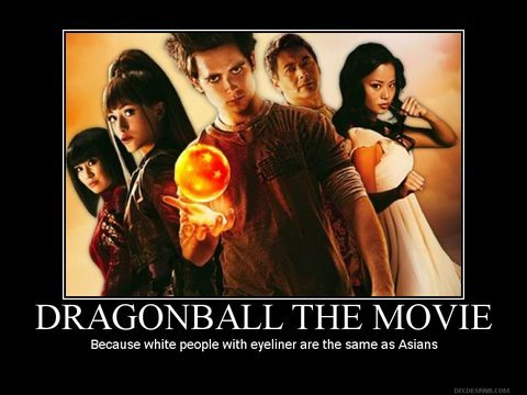 Dragonball - Asians are just white people with eyeliner