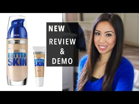 NEW: Maybelline Superstay Better Skin foundation and concealer | Review | Demo | All day test