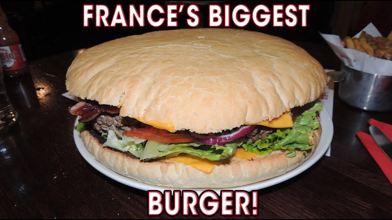 World S Biggest Burger Challenge Bieh S Mega Cheeseburger